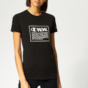 Champion X WOOD WOOD Women's Lyn Crew Neck T-Shirt - Black