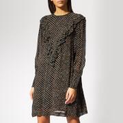 Ganni Women's Mullin Georgette Mini Dress - Black