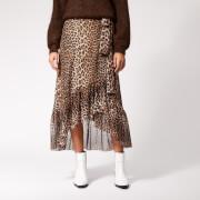 Ganni Women's Tilden Mesh Maxi Skirt - Leopard
