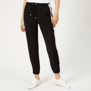 MICHAEL MICHAEL KORS Women's Stripe Track Pants - Black/White