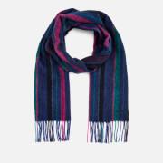 Paul Smith Men's Wool Stripe Scarf - Blue