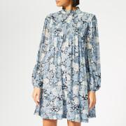 Ganni Women's Elm Georgette Mini Dress - Heather