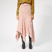 Ganni Women's Goldstone Crepe Skirt - Egret