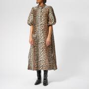 Ganni Women's Cedar Dress - Leopard