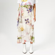 Ganni Women's Tilden Mesh Skirt - Bright White