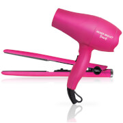 Silver Bullet Luxe Travel Set 2200W Hair Dryer and Straighteners - Pink