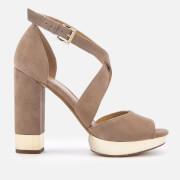 MICHAEL MICHAEL KORS Women's Valerie Platform Heeled Sandals - Dark Khaki