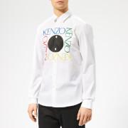 KENZO Men's Slim Fit Logo Shirt - White