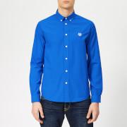 KENZO Men's Casual Fit Poplin Shirt - Cobalt