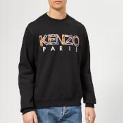 KENZO Men's Pattern Logo Sweatshirt - Black
