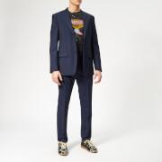 Maison Margiela Men's Two Ply Wool Popeline Suit - Navy