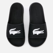 Lacoste Women's Croco Slide 119 3 Sandals - Black/White