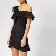 Self-Portrait Women's One Shoulder Frill Dress - Black
