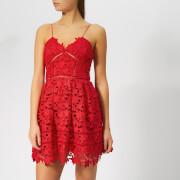 Self-Portrait Women's Mini Azalea Dress - Bright Red