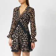 Self-Portrait Women's Twist Front Ditsy Mini Dress - Black