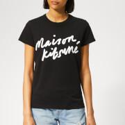 Maison Kitsuné Women's Handwriting T-Shirt - Black
