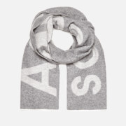 Acne Studios Men's Toronty Logo Scarf - Grey