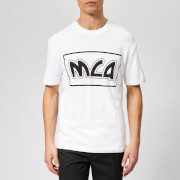McQ Alexander McQueen Men's Dropped Shoulder McQ Logo T-Shirt - Optic White