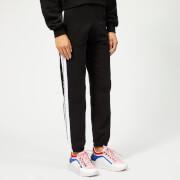 MSGM Women's Jersey Web Logo Trousers - Black
