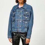 MSGM Women's Denim Jacket - Blue