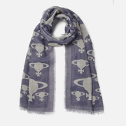 Vivienne Westwood Women's Stole Orb Print Scarf - Navy