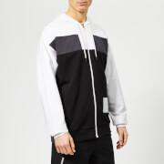 Calvin Klein Performance Men's Full Zip Hoody - Bright White/Gunmetal/CK Black