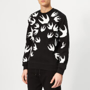 McQ Alexander McQueen Men's Swallow Swarm Pigment Sweatshirt - Darkest Black