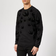 McQ Alexander McQueen Men's Swallow Swarm Sweatshirt - Darkest Black