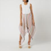 JW Anderson Women's Multi Colour Stripe Bib Dress - Multi