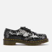 Dr. Martens Women's 1461 Sequin 3-Eye Shoes - Black/Silver