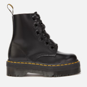 Dr. Martens Women's Molly Buttero Leather 6-Eye Boots - Black