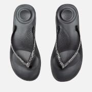 FitFlop Women's iQushion Sparkle Flip Flops - Black