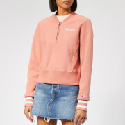 Champion Women's Half Zip Sweatshirt - Pink
