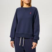 Polo Ralph Lauren Women's Long Sleeve Raglan Po Long Sleeve Sweatshirt - Cruise Navy