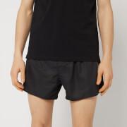 Emporio Armani Men's Tape Detail Swim Shorts - Black