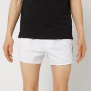 Emporio Armani Men's Embroidered Swim Shorts - White