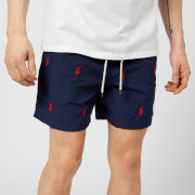 Polo Ralph Lauren Men's Traveller All Over Logo Swim Shorts - Navy