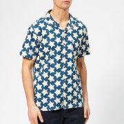 YMC Men's Malick Shirt Star Print - Blue