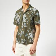 Universal Works Men's Road Shirt - Flower Olive