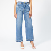 Victoria, Victoria Beckham Women's Cali Wide Leg Jeans - Blue Vintage