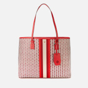 Tory Burch Women's Gemini Link Canvas Tote Bag - Liberty Red