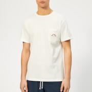 Maison Kitsuné Men's Resting Fox Patch T-Shirt - White
