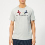Maison Kitsuné Men's Lovebird T-Shirt - Light Grey Melange
