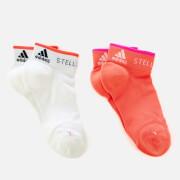 adidas by Stella McCartney Women's Low Cut Socks - Hot Coral