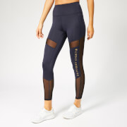 Superdry Sport Women's Active Studio Mesh Leggings - Eclispe Navy Marl