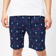 Polo Ralph Lauren Men's All Over Print Sleep Shorts - Cruise Navy