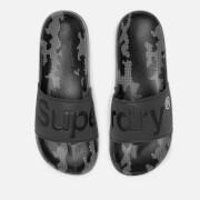 Superdry Men's Aop Beach Slide Sandals - Black 3M/Black/Mono Camo Dot