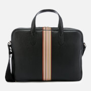 PS by Paul Smith Men's Signature Stripe Slim Leather Business Folio - Black
