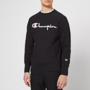 Champion Men's Crew Neck Script Sweatshirt - Black