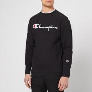 Champion Men's Crew Neck Script Sweatshirt - Black